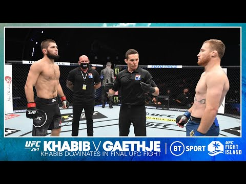 Khabib Nurmagomedov dominates Justin Gaethje in final UFC fight! | UFC 254 fight highlights